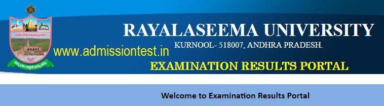 Rayalaseema University Degree Results 2018 RU UG Semester Results