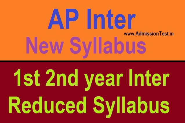 AP Intermediate Reduced Syllabus 2020-21 - Inter 1st 2nd year 30% Reduced New Syllabus for All Subjects Pdf Here