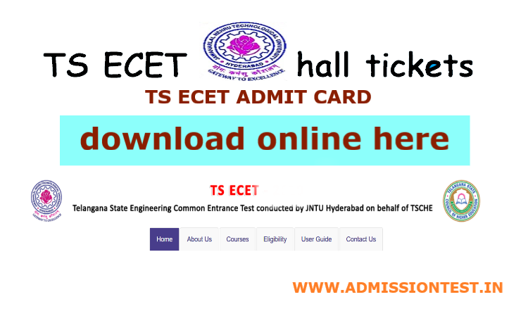 TS ECET 2020 Hall Tickets Download Online Here