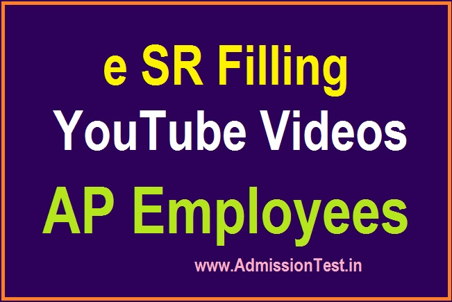 eSR Filling Youtube Videos By Venkat for AP Employees