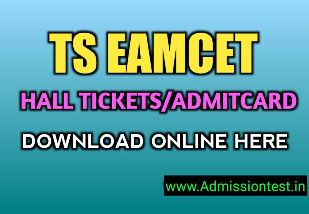 TS EAMCET 2021 Hall Tickets Released, Download Online Here