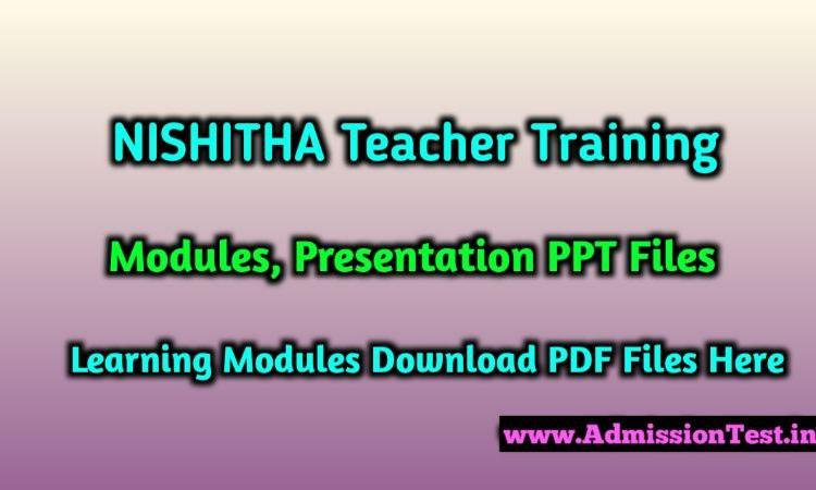 NISHTHA Diksha Training & Leadership Modules Download For Teachers