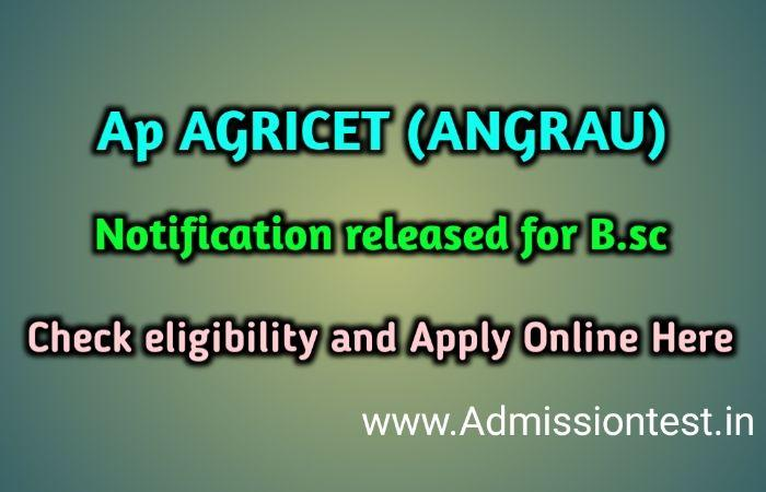 Apply AP AGRICET 2020 Notification, Eligibility & Steps To Apply Online